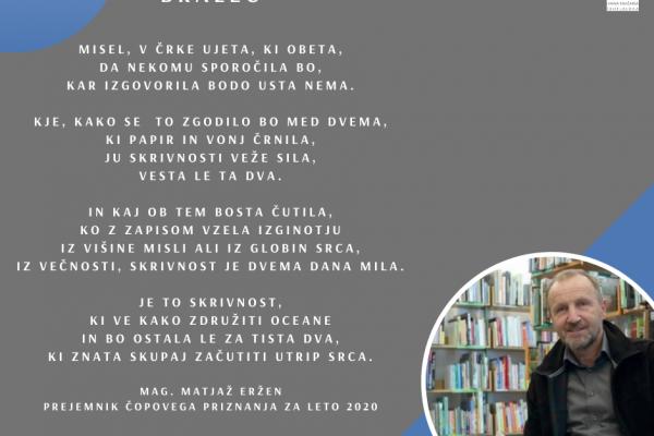 Čopovo priznaje direktorju Knjižnice Ivana Tavčarja Škofja Loka