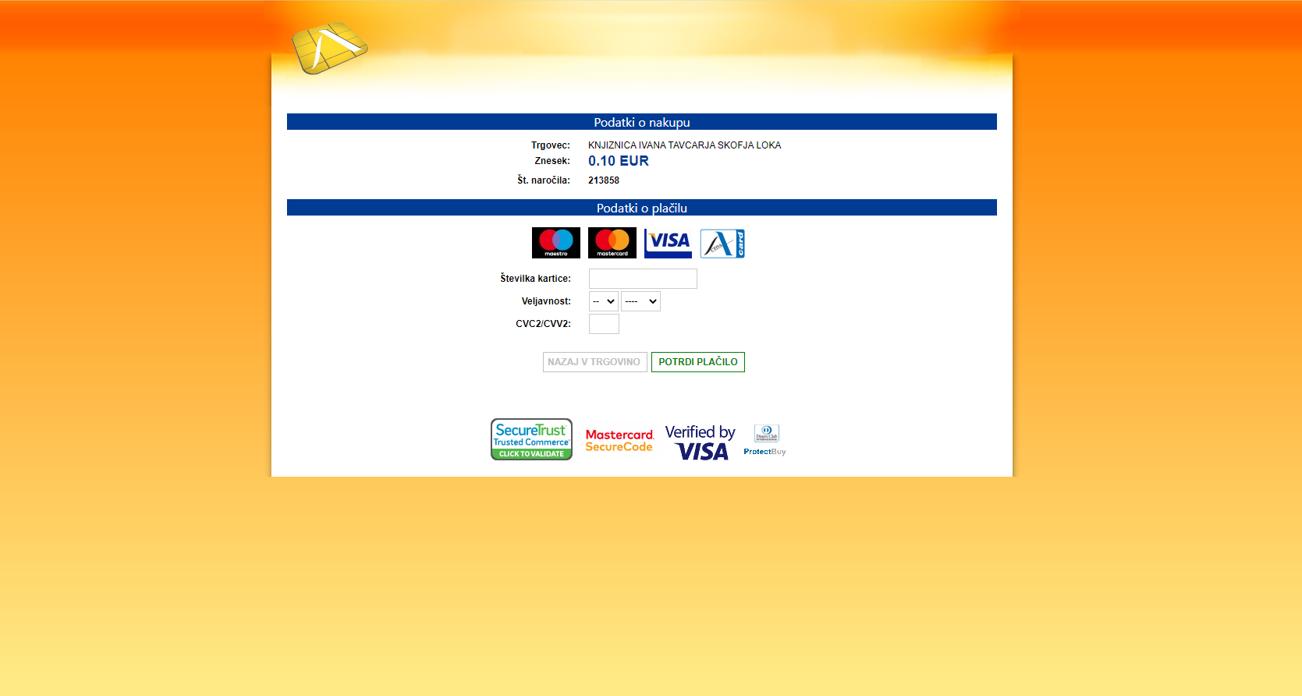 Spletno Plačilo3
