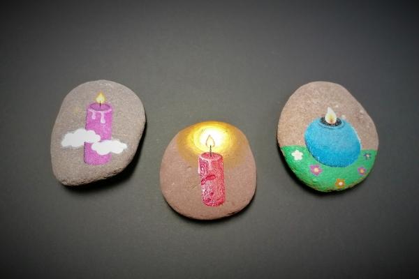 Ustvarjalna delavnica: Kamen z lučko, kamen za spomin